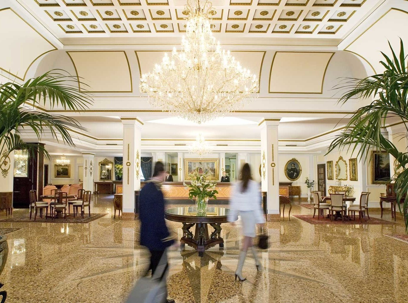 Classic Elegant Lobby plant building plaza palace Courtyard home mansion shopping mall ballroom