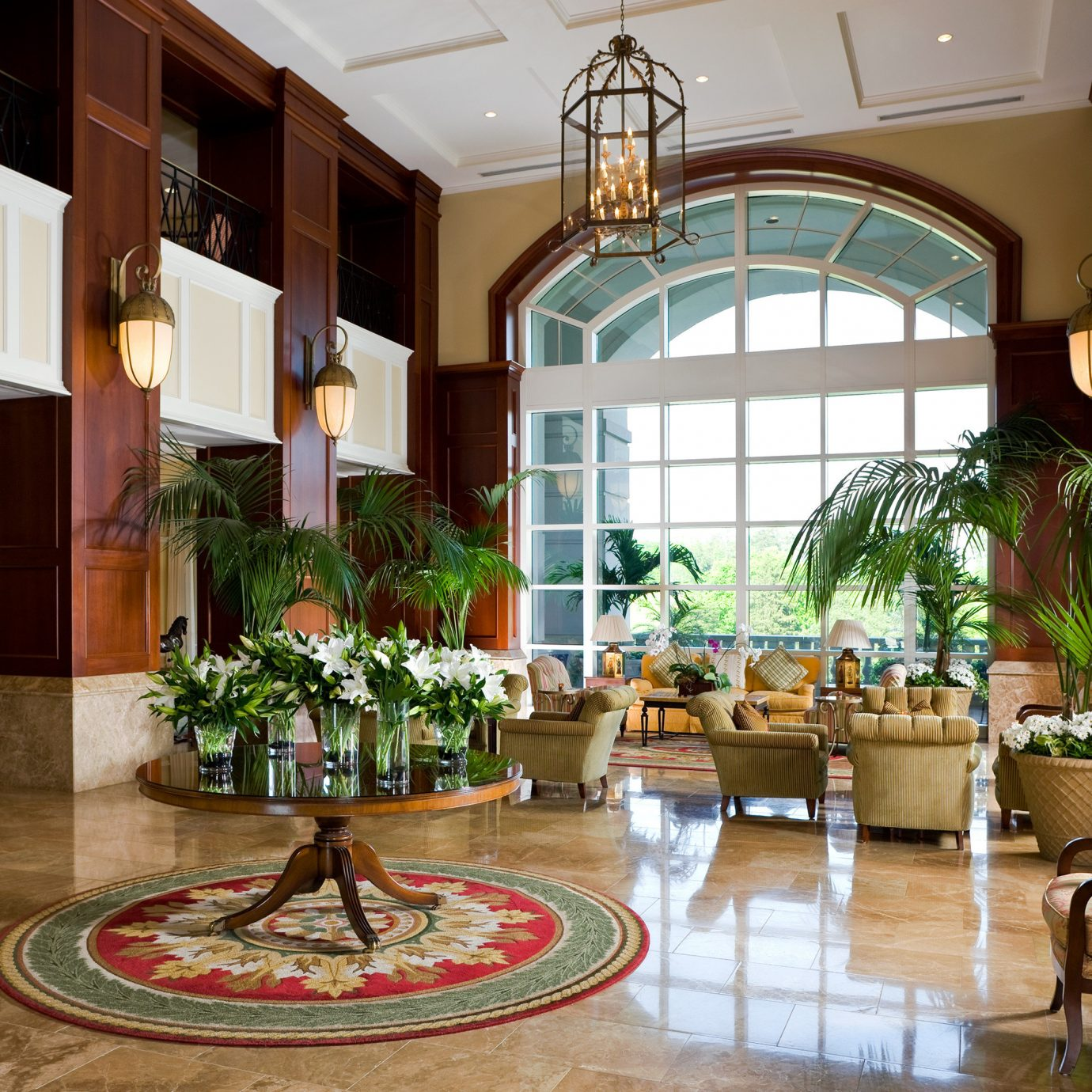 Classic Lobby Lounge Luxury property home condominium living room Courtyard mansion restaurant