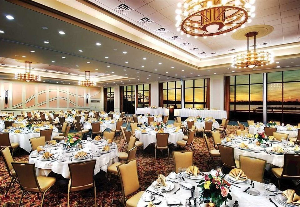 Classic Dining function hall scene restaurant banquet ballroom convention center conference hall set