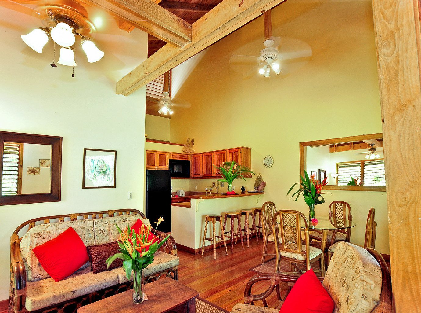 Classic Eco Island Jungle Kitchen Villa property home cottage living room farmhouse Dining