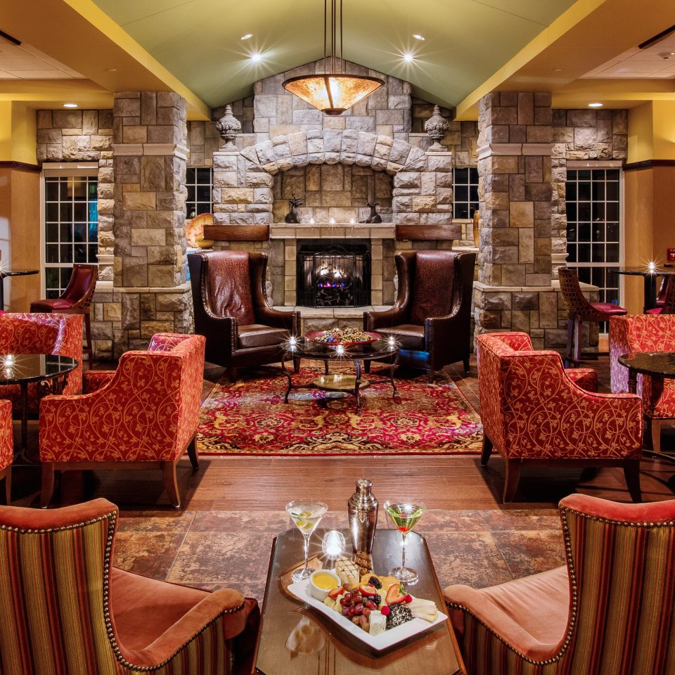 Classic Fireplace Lounge Resort chair restaurant Lobby living room home Dining function hall