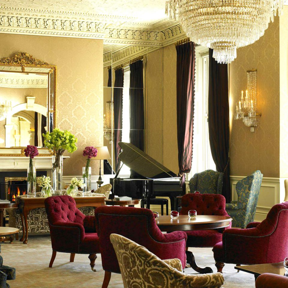 Classic Dublin Elegant Hotels Ireland Lounge Luxury chair living room property Lobby home restaurant Suite Villa mansion arranged