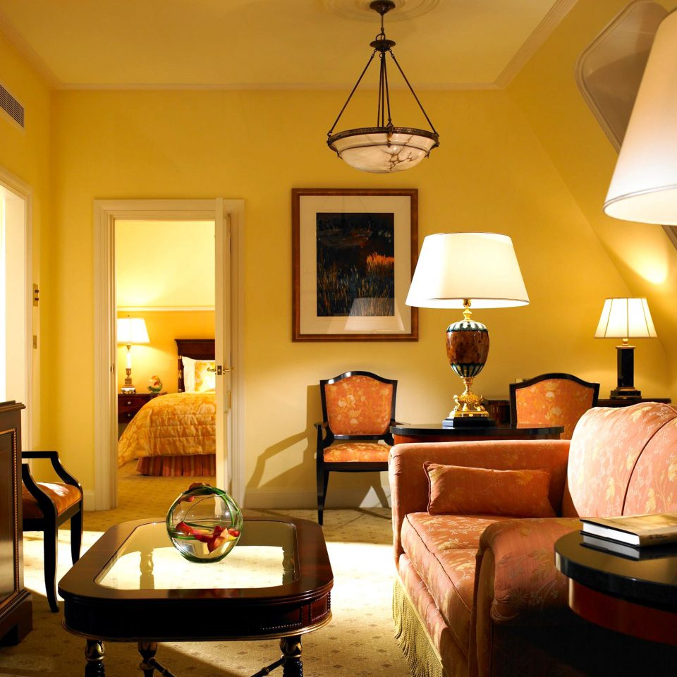 Classic Dublin Elegant Hotels Ireland Luxury Suite living room property home yellow cottage lamp