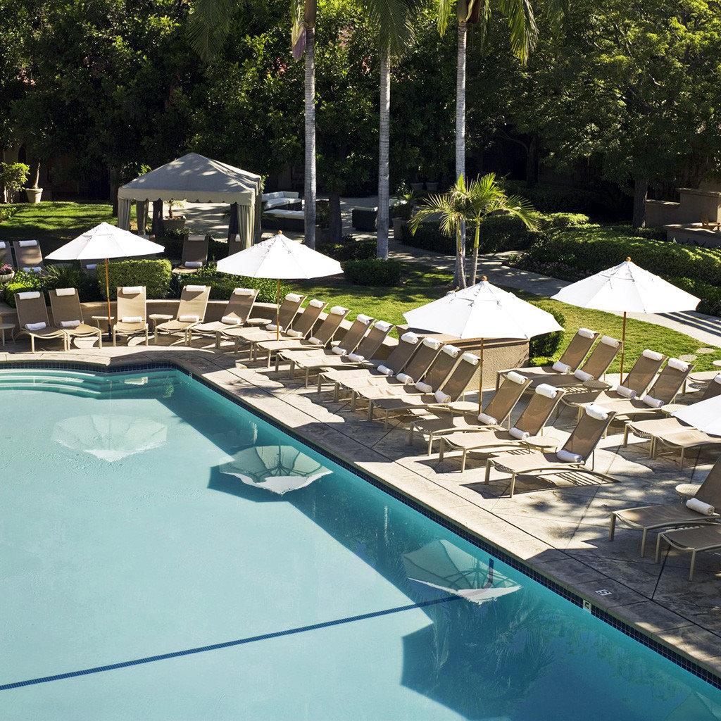 Classic Elegant Grounds Luxury Pool tree swimming pool leisure property backyard reflecting pool Villa outdoor structure yard Resort landscape architect