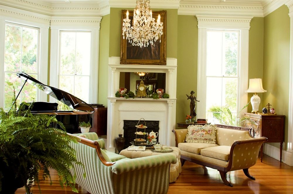 Classic Elegant Historic living room home leather