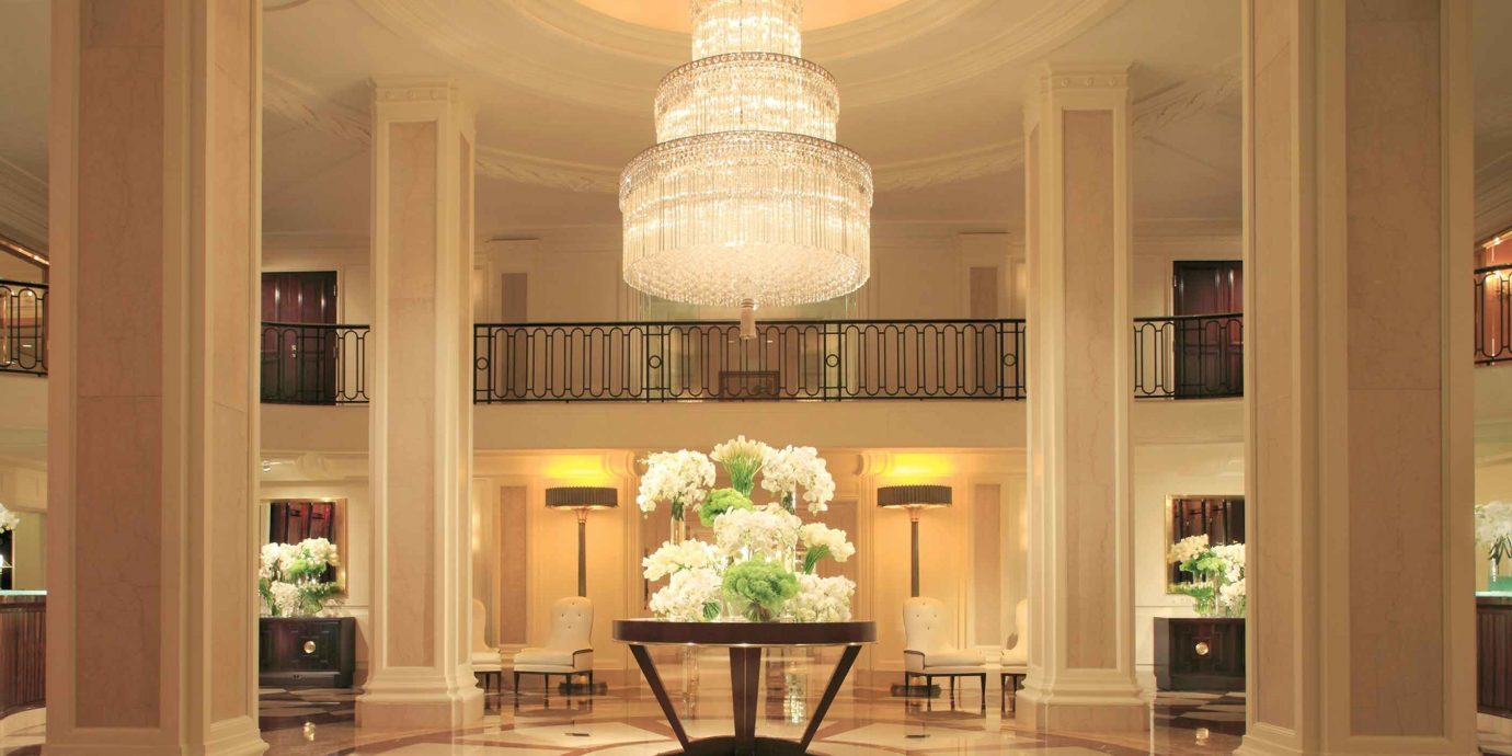 Classic Elegant Lobby Luxury lighting home living room mansion ballroom hall column