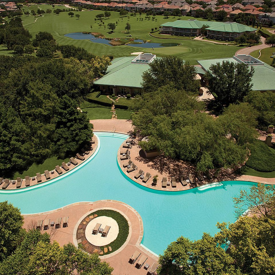 Classic Exterior Grounds Pool Resort tree aerial photography structure bird's eye view green sport venue residential area Nature Garden mansion landscape architect golf course botanical garden park lush surrounded