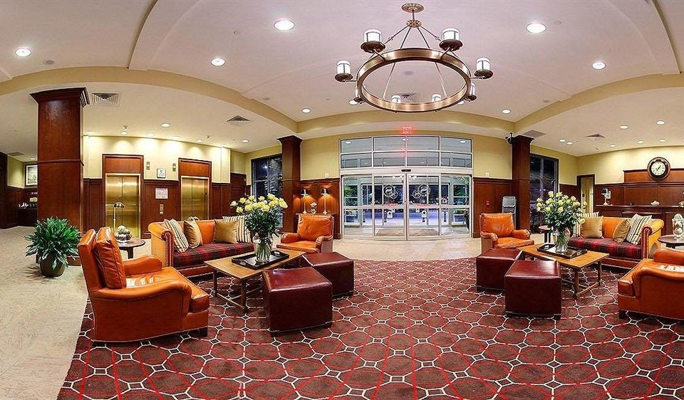 Classic Family Lobby property function hall living room orange recreation room