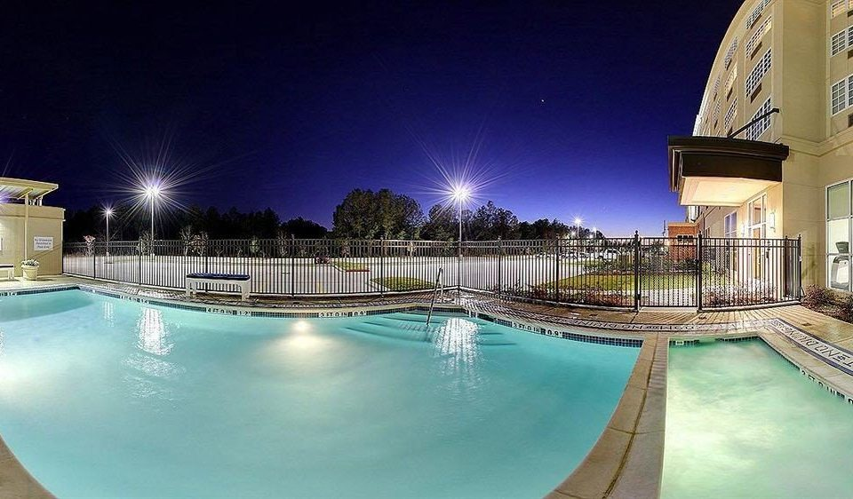 Classic Family Pool swimming pool leisure Resort condominium reflecting pool plaza night