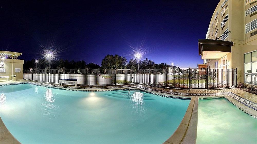 Classic Family Pool swimming pool leisure Resort condominium reflecting pool plaza night