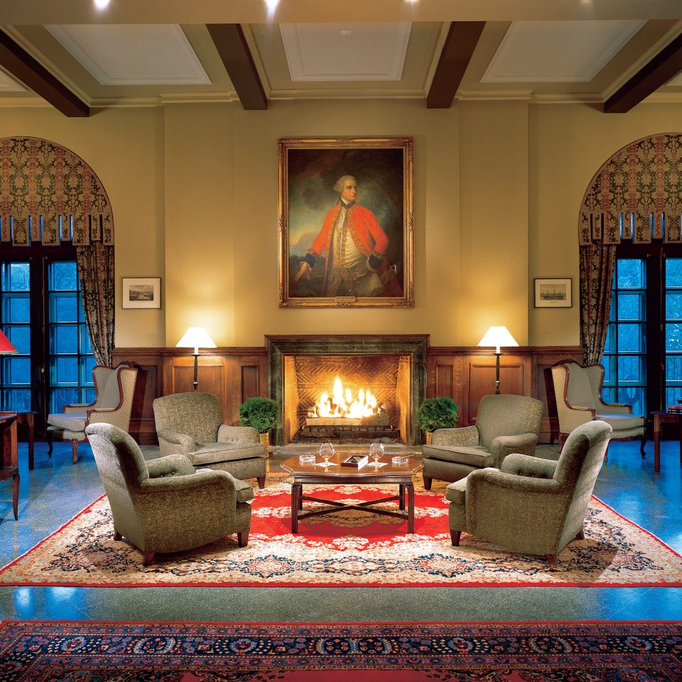 Classic Fireplace Lounge Resort sofa Lobby living room recreation room home mansion palace stone
