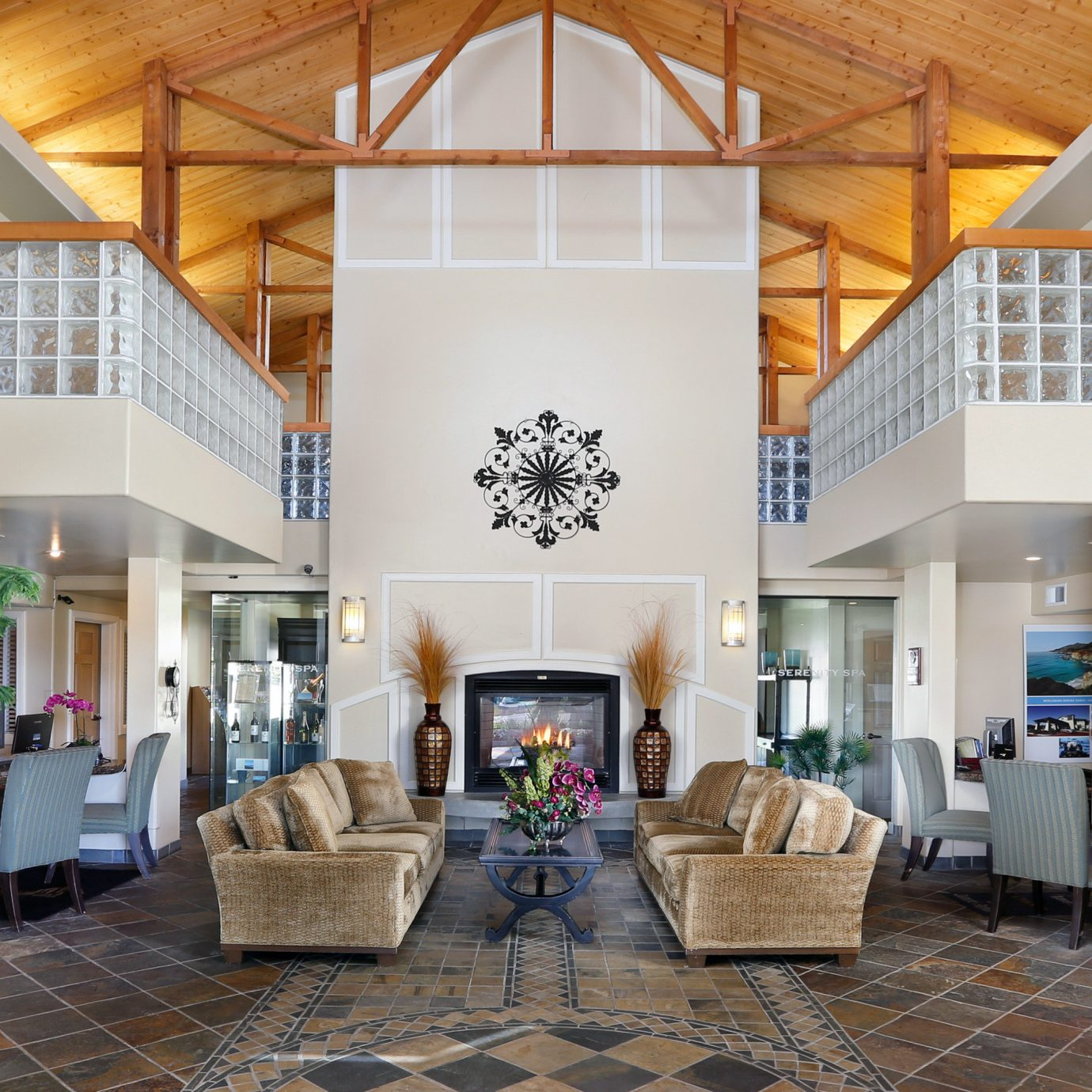 Classic Lounge Modern property living room home Lobby porch outdoor structure farmhouse stone