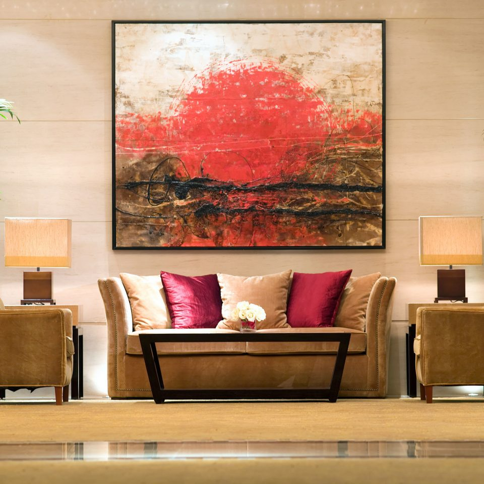 Classic Resort modern art living room plant sofa home painting Lobby mural seat colored