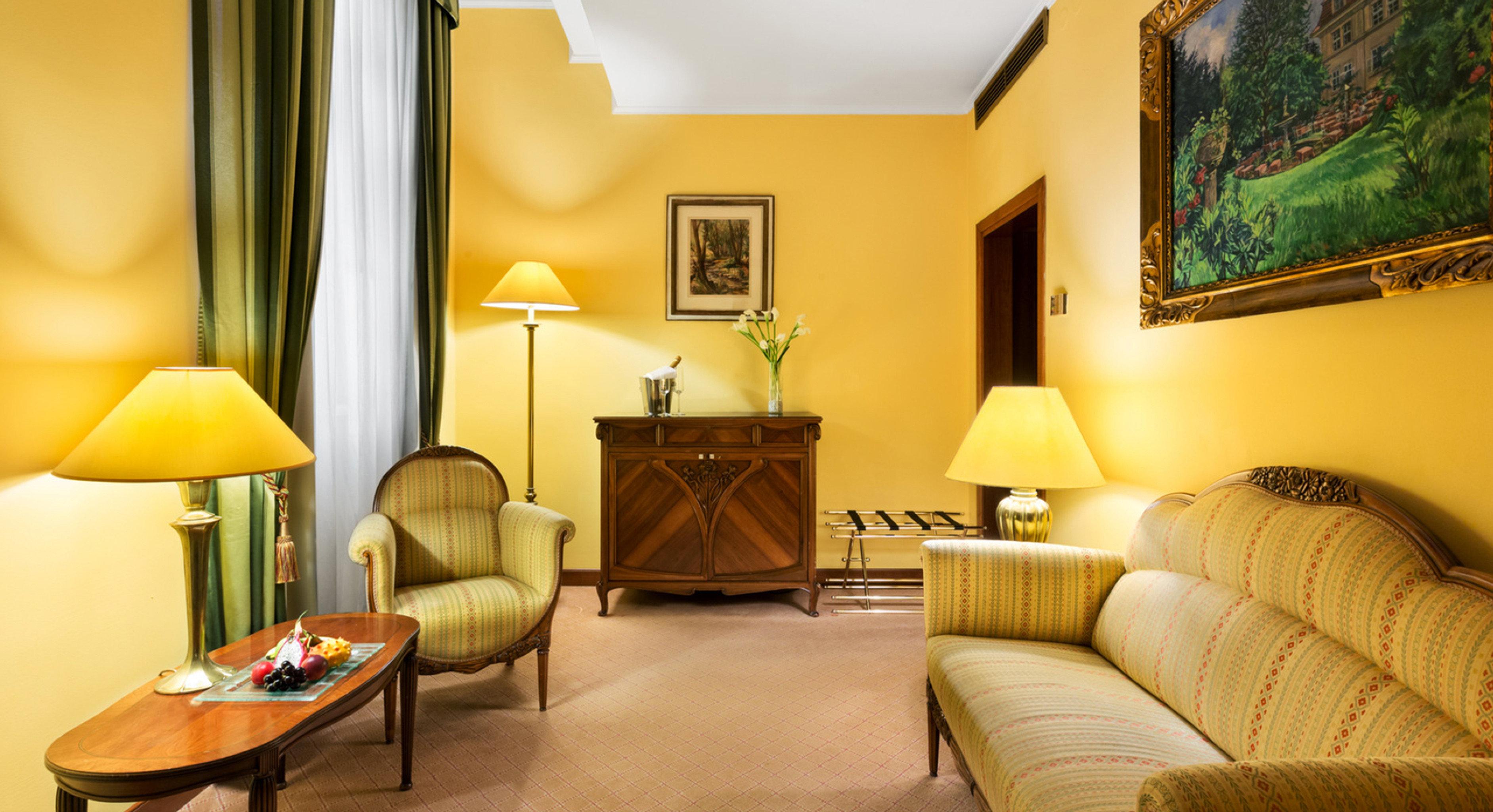 Classic Lounge Luxury sofa property Suite home living room yellow cottage Villa condominium