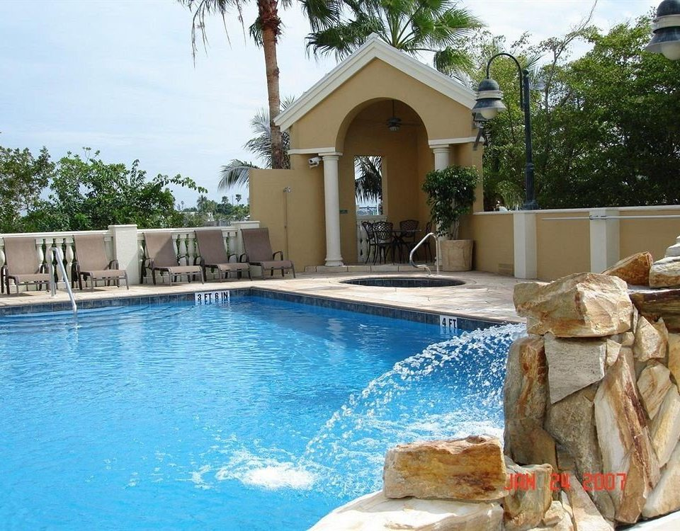 Classic Pool water tree property swimming pool home Villa backyard swimming stone