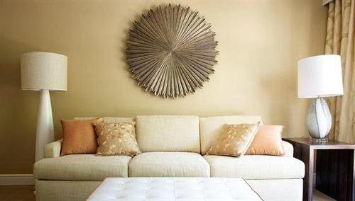Classic Resort sofa living room seat white lighting lamp tan flat colored