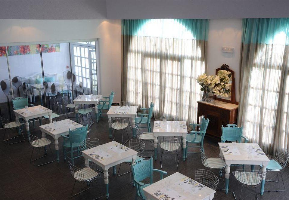 classroom restaurant cluttered