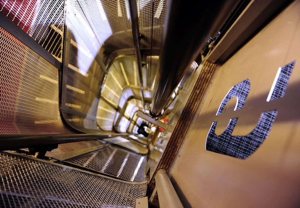 escalator close up subway