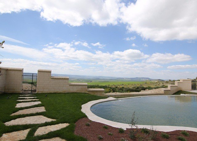 sky grass property home swimming pool cloudy clouds day