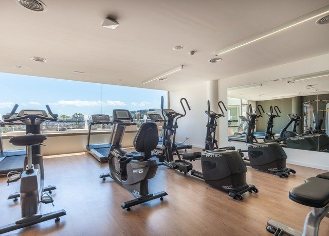 structure property sport venue gym condominium office cluttered