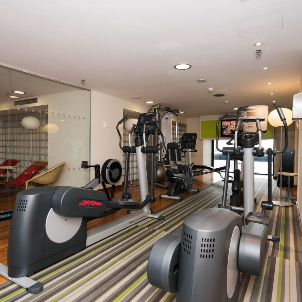 structure property sport venue gym condominium cluttered
