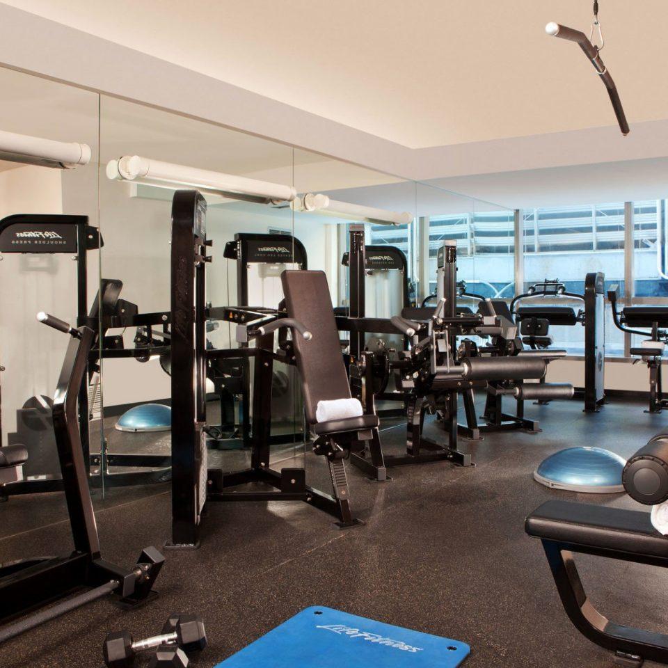 structure gym sport venue condominium cluttered