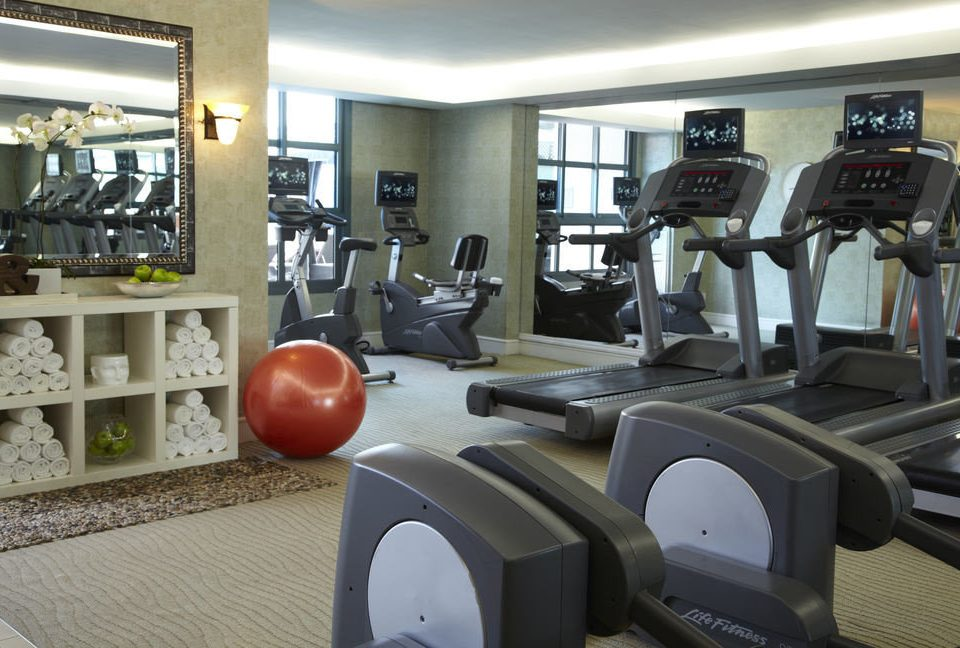 structure gym sport venue condominium cluttered