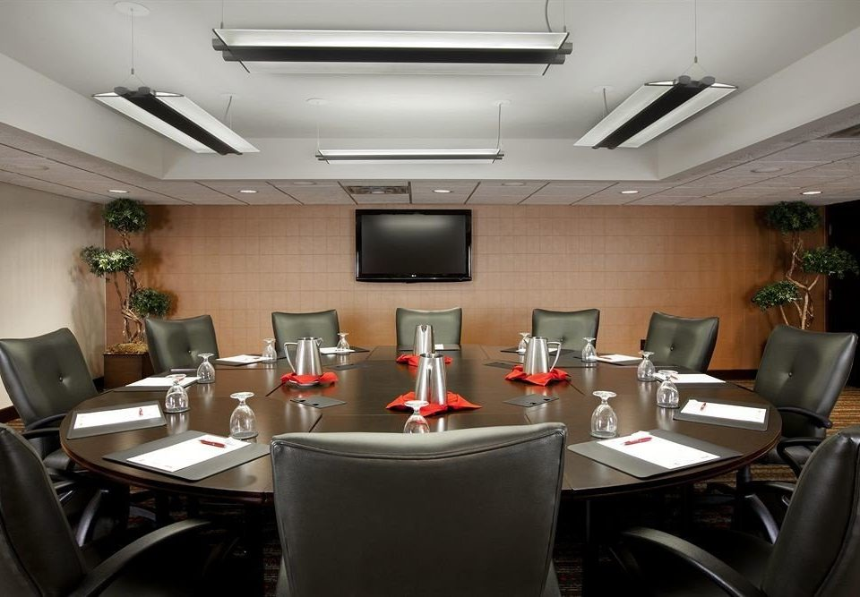 conference hall desk office restaurant function hall meeting leather cluttered