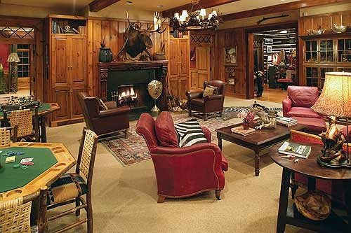 property home living room recreation room cottage cluttered