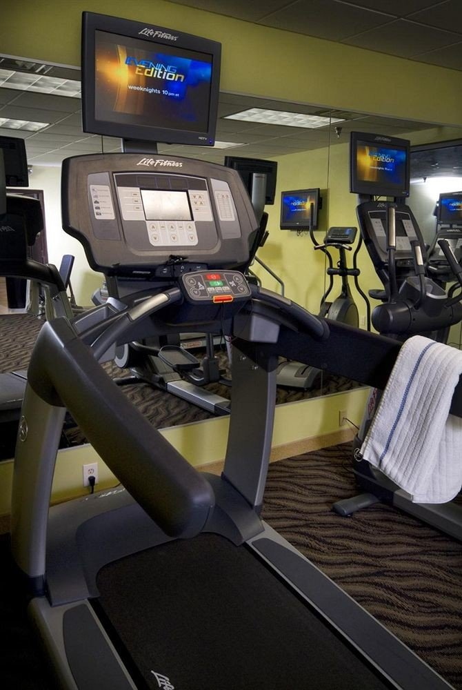 structure gym desk exercise machine sport venue office exercise equipment treadmill sports equipment cluttered