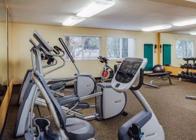 structure gym sport venue exercise machine office cluttered