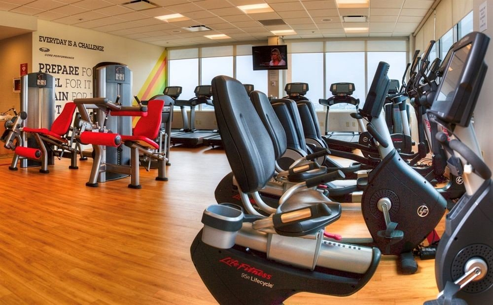 structure gym sport venue physical fitness hard cluttered
