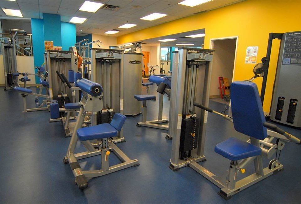 structure gym sport venue office cluttered