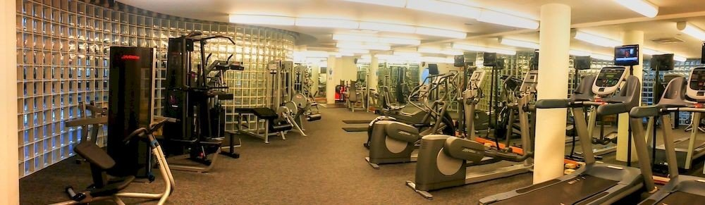 structure sport venue gym office cluttered