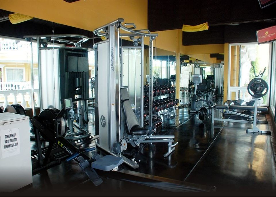 structure gym sport venue physical fitness cluttered