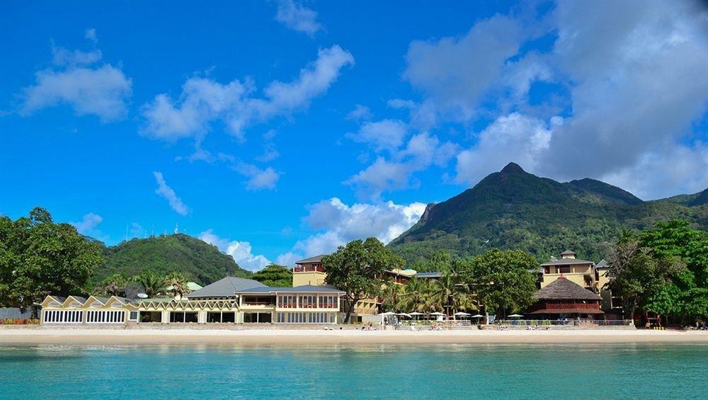 water mountain Sea caribbean Resort Nature Lagoon Island Coast Lake swimming surrounded shore