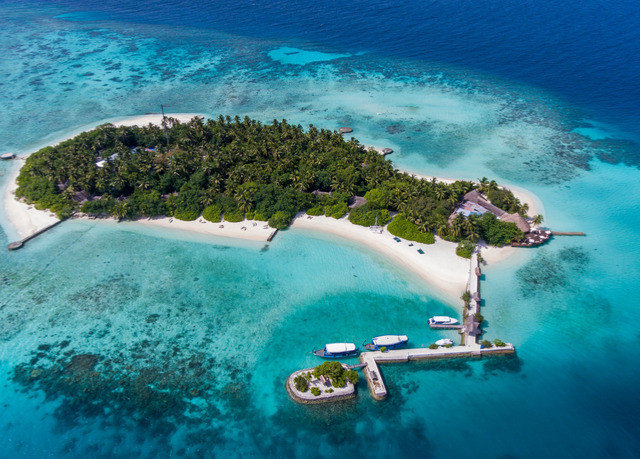 water reef archipelago caribbean Nature Sea Ocean islet atoll Coast Island Lagoon cape terrain cay swimming pool artificial island aerial photography tropics