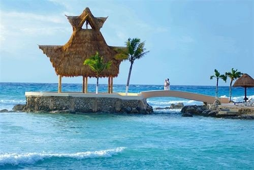 sky water caribbean Resort Nature Island islet Coast Sea Lagoon cape shore