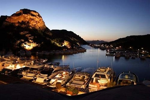 sky water Town Coast night evening mountain dusk marina Sea Nature Sunset panorama dock Island
