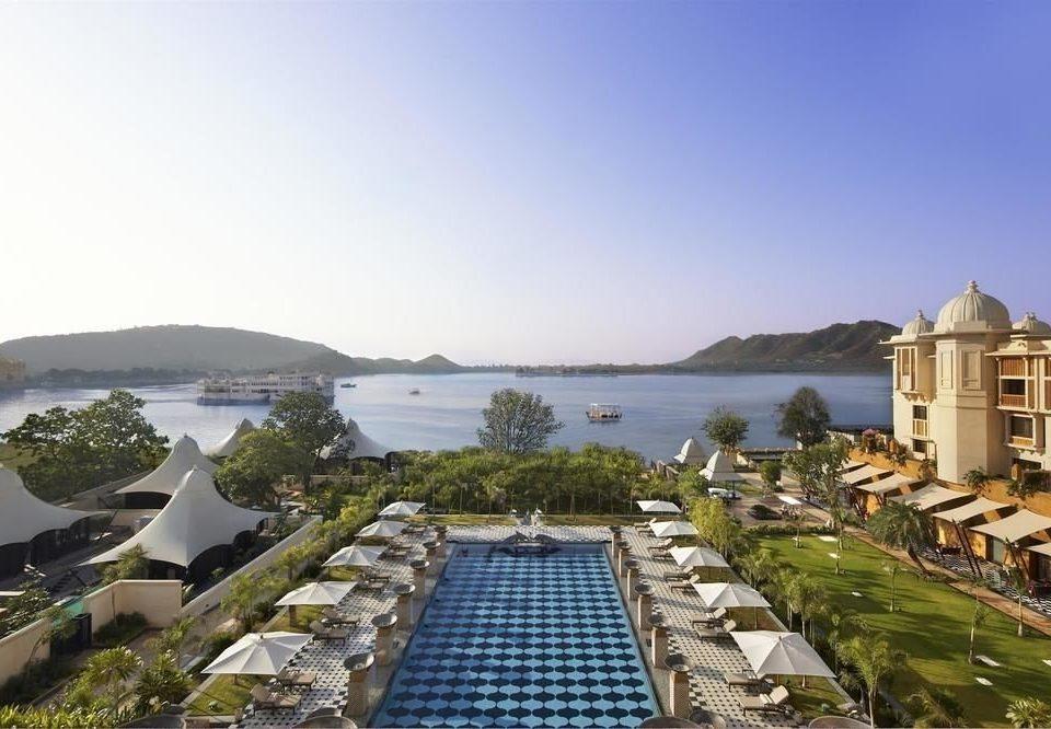 sky property Town Resort marina dock residential area Coast Sea Villa mansion Island
