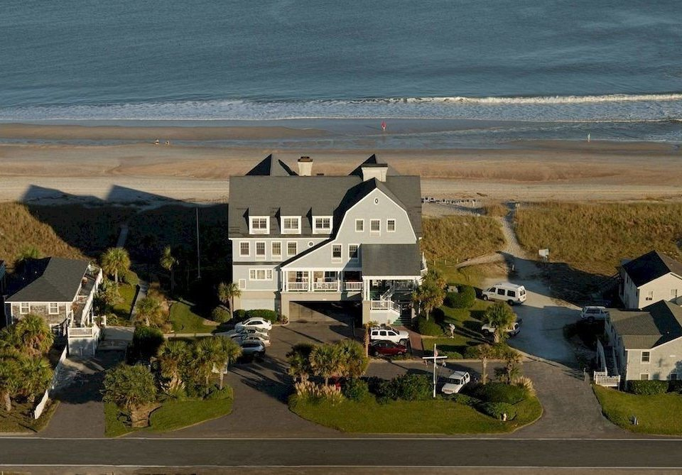 water Coast house residential area aerial photography Sea tower shore Island