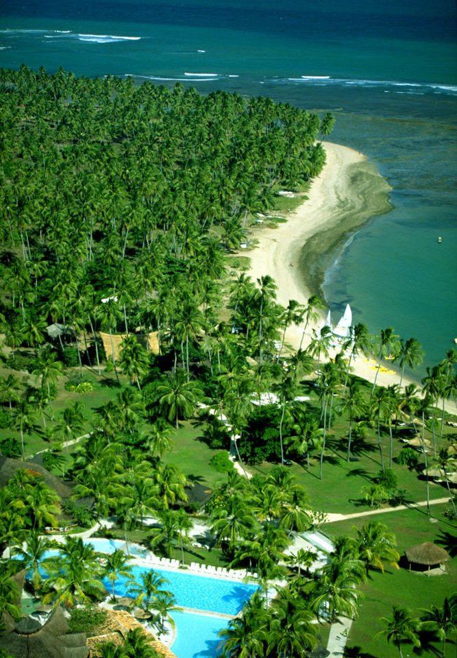 water green ecosystem Coast Sea Ocean tropics aerial photography landscape Lagoon Jungle terrain rainforest Lake plant lush