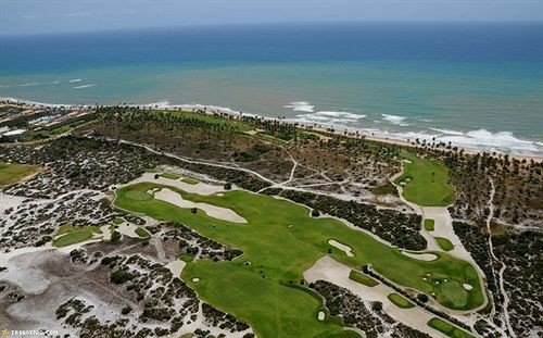 water structure aerial photography Nature Ocean bird's eye view Coast sport venue cape rocky golf course overlooking shore sandy