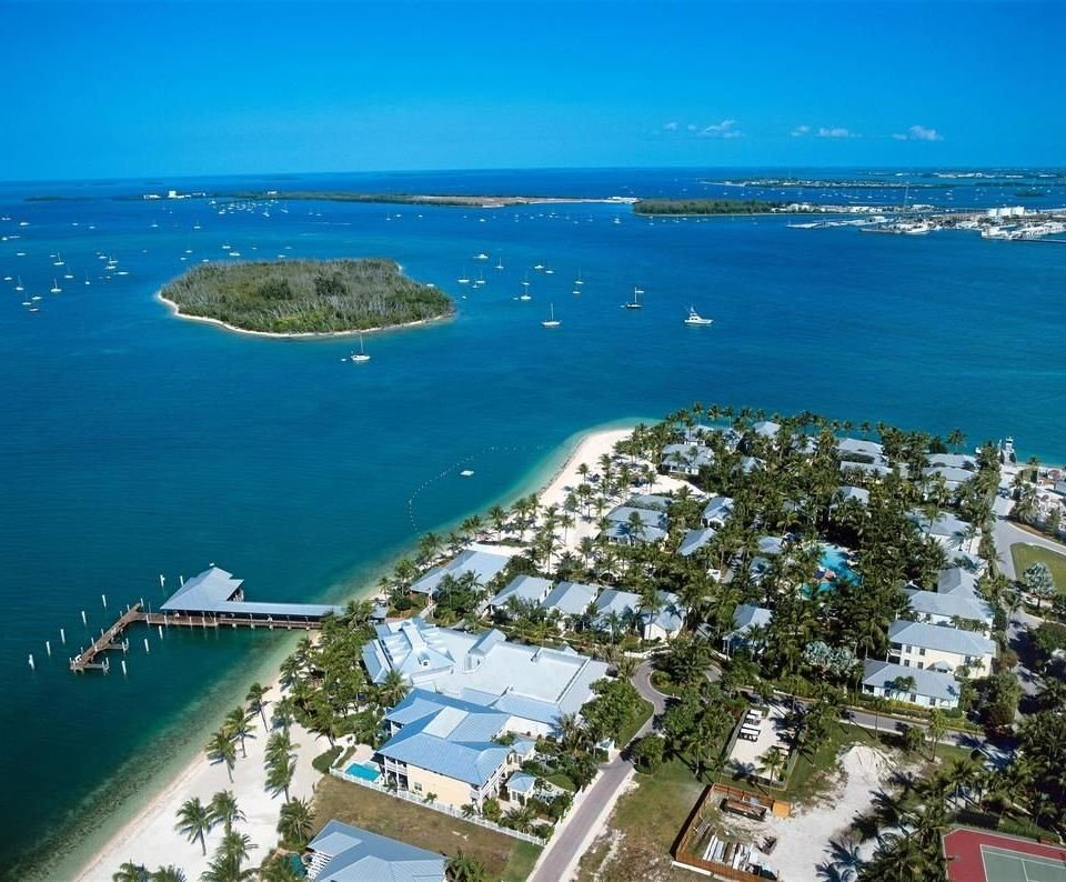 water sky Nature aerial photography Coast Sea horizon marina cape Ocean caribbean shore dock port bird's eye view tower islet reef promontory