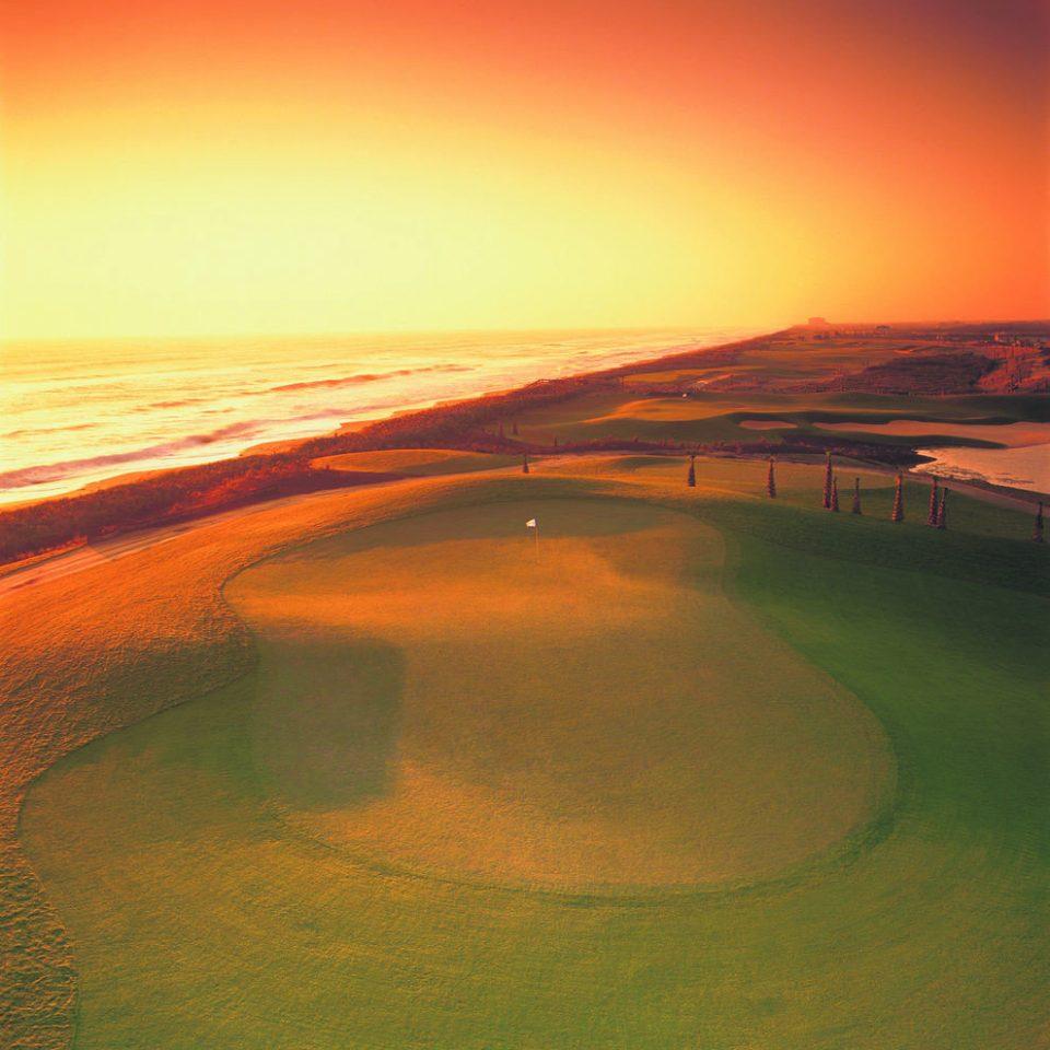 sky water horizon sunrise afterglow Nature dawn Sunset Ocean grassland morning hill Sea dusk plain orange Coast landscape evening loch