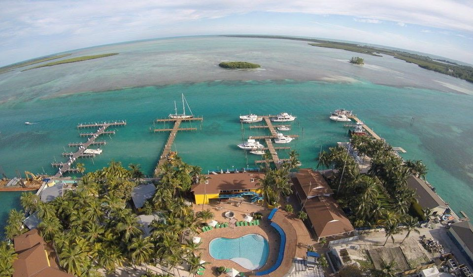 Nature aerial photography Coast bird's eye view Water park Sea cape Resort overlooking shore