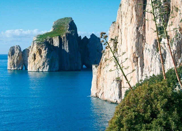 water cliff Coast terrain Nature rock cape Sea formation surrounded stone