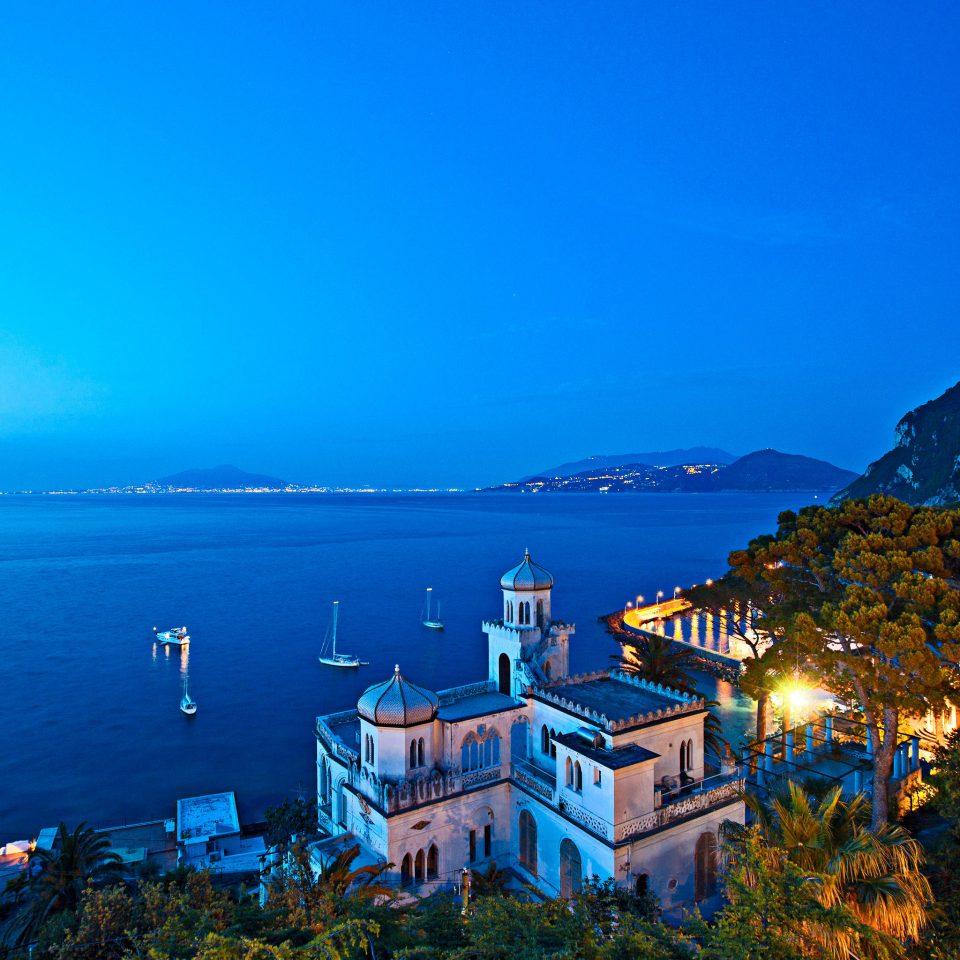 Ocean Romantic Waterfront sky Sea horizon Coast night mountain evening morning dusk landscape dawn mountain range cape