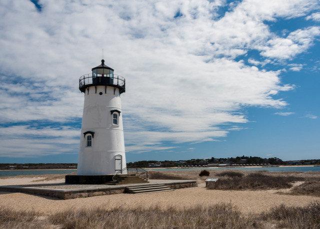 sky lighthouse tower grass building Sea Coast cloud Ocean cape