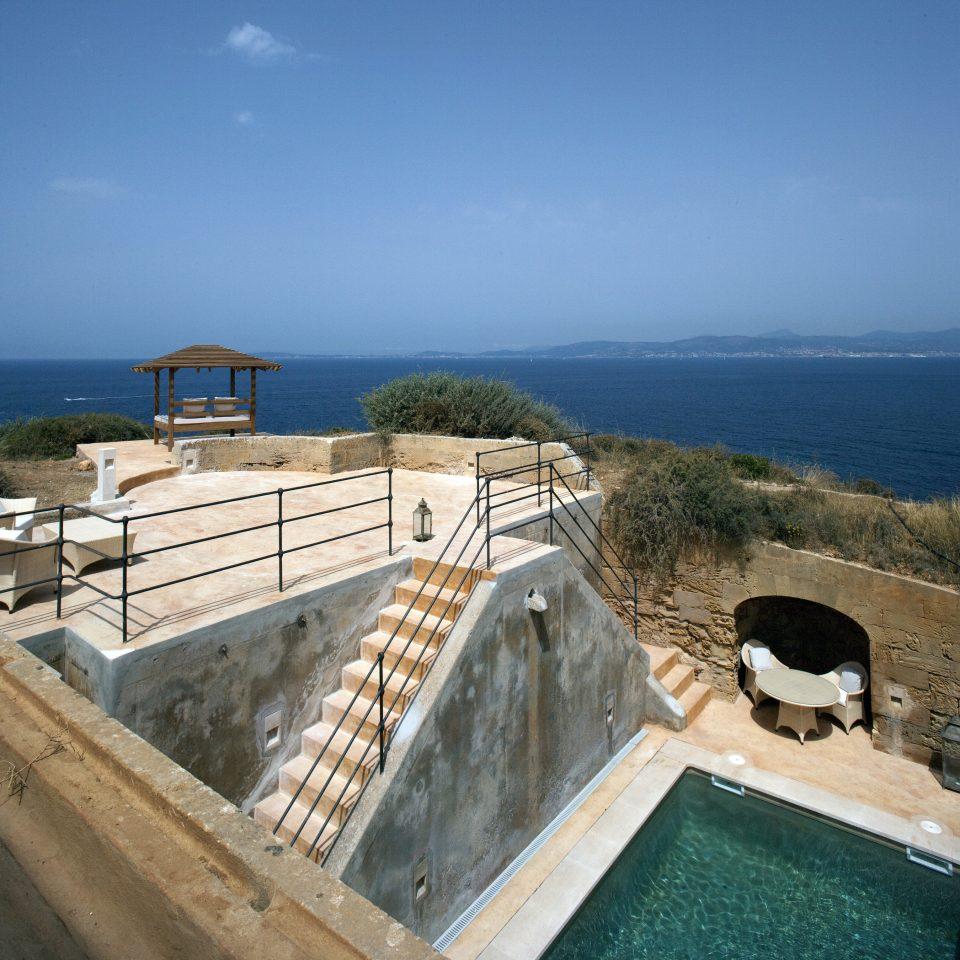 sky Sea water Coast Ocean fortification reservoir swimming pool cape travel terrain overlooking